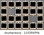 antique picture frame on the... | Shutterstock . vector #115396996