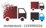 vector shipment van icon in...   Shutterstock .eps vector #1153983226