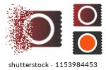 vector condom pack icon in... | Shutterstock .eps vector #1153984453
