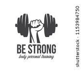 bodybuilding  powerlifting ...   Shutterstock .eps vector #1153984750