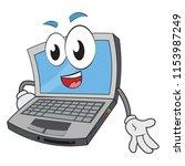 funny laptop character looking... | Shutterstock .eps vector #1153987249