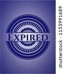 expired emblem with denim... | Shutterstock .eps vector #1153991689
