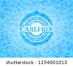 carefree sky blue emblem with... | Shutterstock .eps vector #1154001013