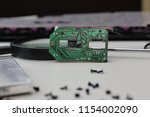 motherboard circuit technology... | Shutterstock . vector #1154002090