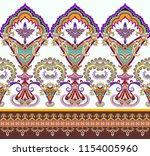 seamless bright  border with... | Shutterstock .eps vector #1154005960
