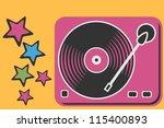 retro turntable | Shutterstock .eps vector #115400893