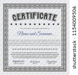 grey sample certificate or... | Shutterstock .eps vector #1154009506