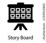 a screen with the blocks on a... | Shutterstock .eps vector #1154012863