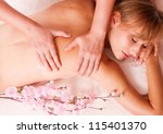 massage body beatiful women... | Shutterstock . vector #115401370