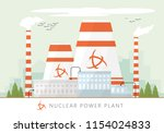 nuclear power plant vector... | Shutterstock .eps vector #1154024833
