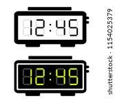digital alarm clock. vector... | Shutterstock .eps vector #1154025379