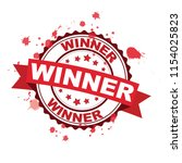 red rubber stamp with winner... | Shutterstock .eps vector #1154025823