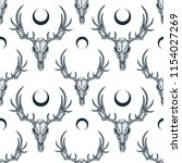 vector seamless pattern with... | Shutterstock .eps vector #1154027269