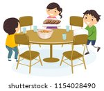 illustration of stickman kids... | Shutterstock .eps vector #1154028490