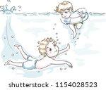 illustration of kids boys... | Shutterstock .eps vector #1154028523