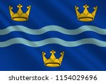 flag of cambridgeshire is a... | Shutterstock . vector #1154029696
