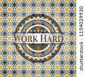 work hard arabic emblem... | Shutterstock .eps vector #1154029930
