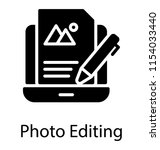 laptop screen with file having ... | Shutterstock .eps vector #1154033440
