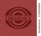 obedience red icon or emblem | Shutterstock .eps vector #1154036896
