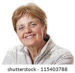 happy senior woman   sixty... | Shutterstock . vector #115403788
