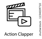 a clapper board with the play... | Shutterstock .eps vector #1154039710