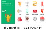 flat icon pack for food and... | Shutterstock .eps vector #1154041459