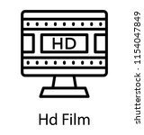 a screen showing movie clip... | Shutterstock .eps vector #1154047849