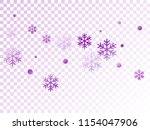 crystal snowflake and circle... | Shutterstock .eps vector #1154047906