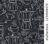 grunge blackboard with seamless ... | Shutterstock .eps vector #1154048470