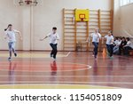 primary school students a sport ... | Shutterstock . vector #1154051809