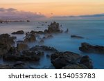 atlantic ocean coast. albufeira.... | Shutterstock . vector #1154053783