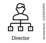 human avatar directing through ... | Shutterstock .eps vector #1154053993