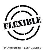 flexible stamp on white... | Shutterstock .eps vector #1154066869