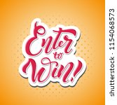 enter to win. win prize. win in ... | Shutterstock . vector #1154068573