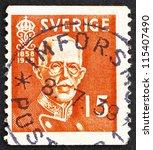 sweden   circa 1938  a stamp... | Shutterstock . vector #115407490