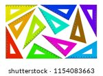 set of plastic triangles for... | Shutterstock . vector #1154083663
