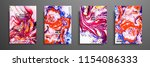 colorful covers design set with ... | Shutterstock .eps vector #1154086333