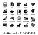 payment glyph icons set  | Shutterstock .eps vector #1154086363