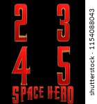 space hero typeface 4 letters   ... | Shutterstock . vector #1154088043