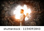his energy never ends. mixed... | Shutterstock . vector #1154092843