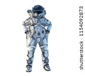 astronaut on white. mixed media | Shutterstock . vector #1154092873