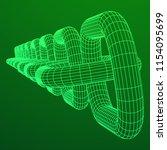wireframe blockchain links....   Shutterstock . vector #1154095699