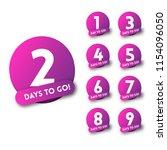 number of days left to go... | Shutterstock .eps vector #1154096050