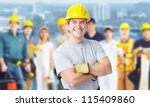 smiling construction worker man.... | Shutterstock . vector #115409860