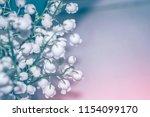 blur. spring landscape. flowers ... | Shutterstock . vector #1154099170