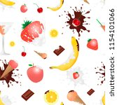 cocktail of fruits and berries | Shutterstock .eps vector #1154101066