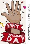 brunette left hand with... | Shutterstock .eps vector #1154108773