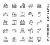 industrial line vector icons   | Shutterstock .eps vector #1154113483