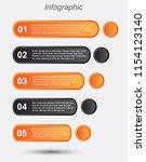 info graphic design template.... | Shutterstock .eps vector #1154123140