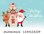 merry christmas greeting card... | Shutterstock .eps vector #1154123239